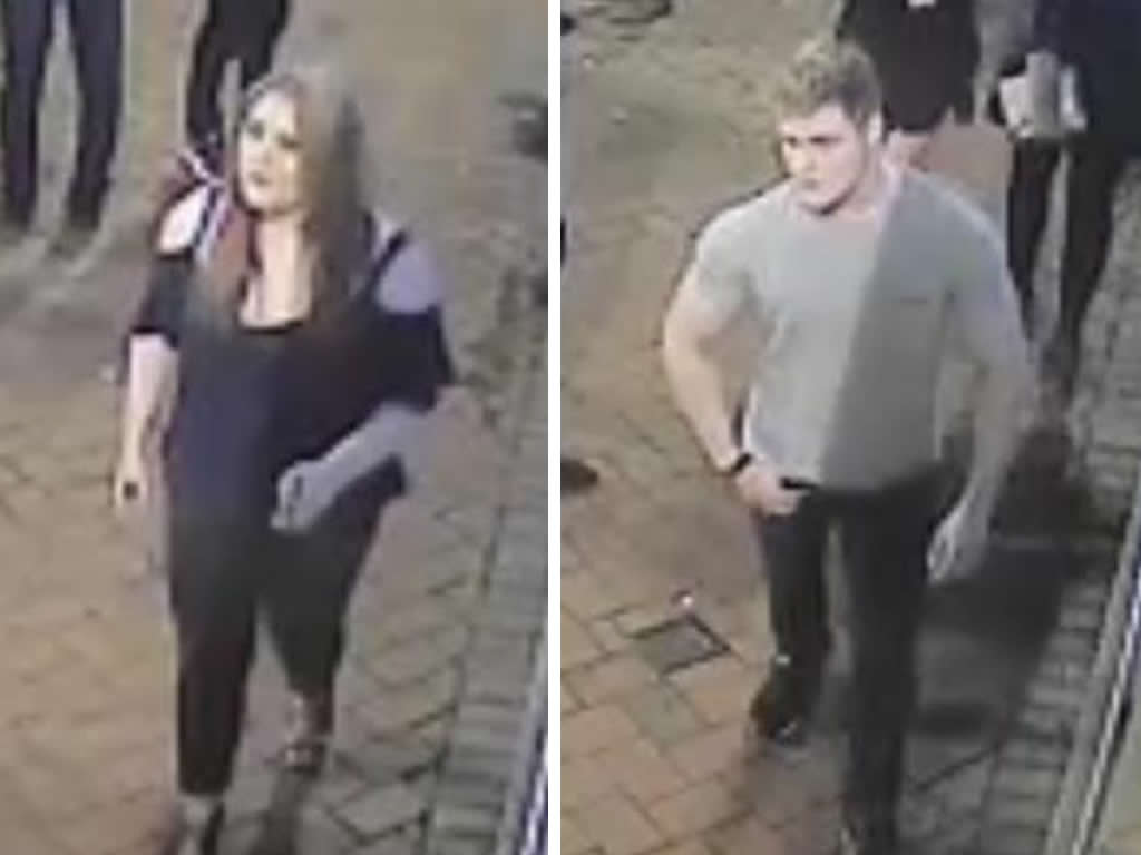 Images released of two people we want to speak to about a #Derby glassing incident. https://t.co/lywFBWPkuf https://t.co/UsGc32yG8R