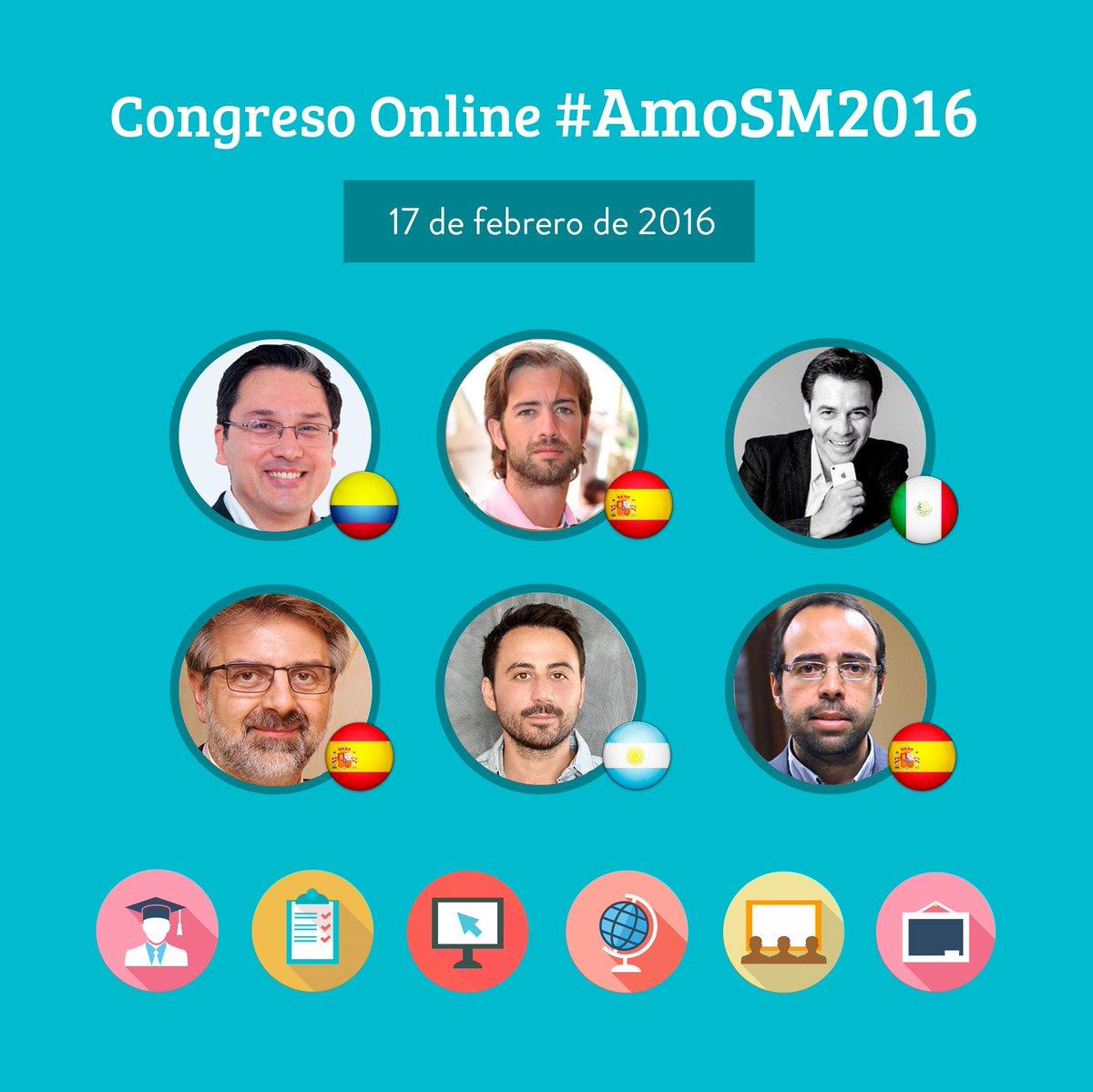 ¡Este miércoles hay a un gran Congreso online de #SocialMedia! ¡¡#AmoSM2016!!