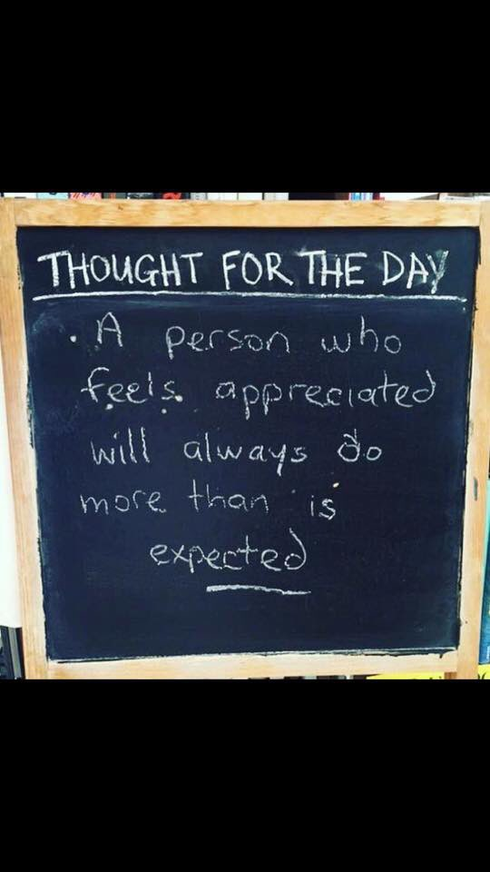 """Food for thoughts - who should you say """"I appreciate you"""" today? https://t.co/NuYnt9bU4b"""