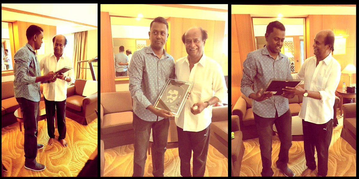 Dream come true! Finally met the one&only @superstarrajini & gifted Thalaivar my own artwork. I'm blessed @Rajni_FC https://t.co/7LqoHp6uFa