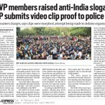 ABVP members raised anti-India slogans. @PMOIndia @HasanSafin https://t.co/as8dt3gBGB