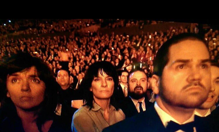 Faces during #kendricklamar performance on Grammys. https://t.co/qUd3JiAEX3