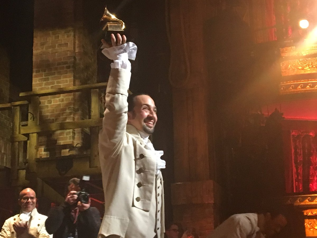 The man and his Grammy: @Lin_Manuel #Gram4Ham https://t.co/JpFFOzEJGe