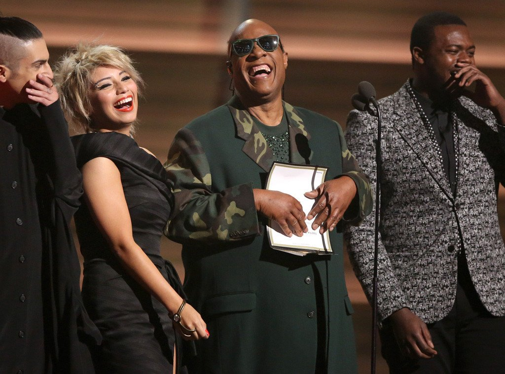 Stevie Wonder & Pentatonix perform tribute to the late Maurice White at the GRAMMYs: