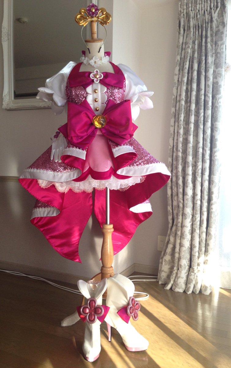 Go!プリンセスプリキュア キュアフローラED衣装完成しました!!#衣装製作 #キュアフローラ #precure