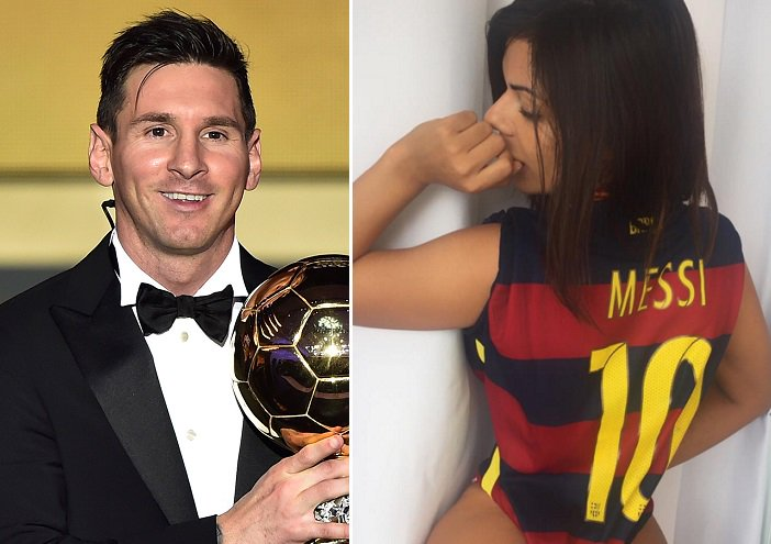 RT @102greatgoals: Suzy Cortez, Miss BumBum 2015, has another Leo Messi inspired photo shoot [Instagram] https://t.co/3N5LU5RsqB https://t.…