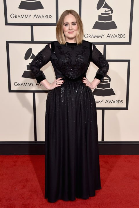 Adele opted for a @givenchy black gown for the #grammys last night ...