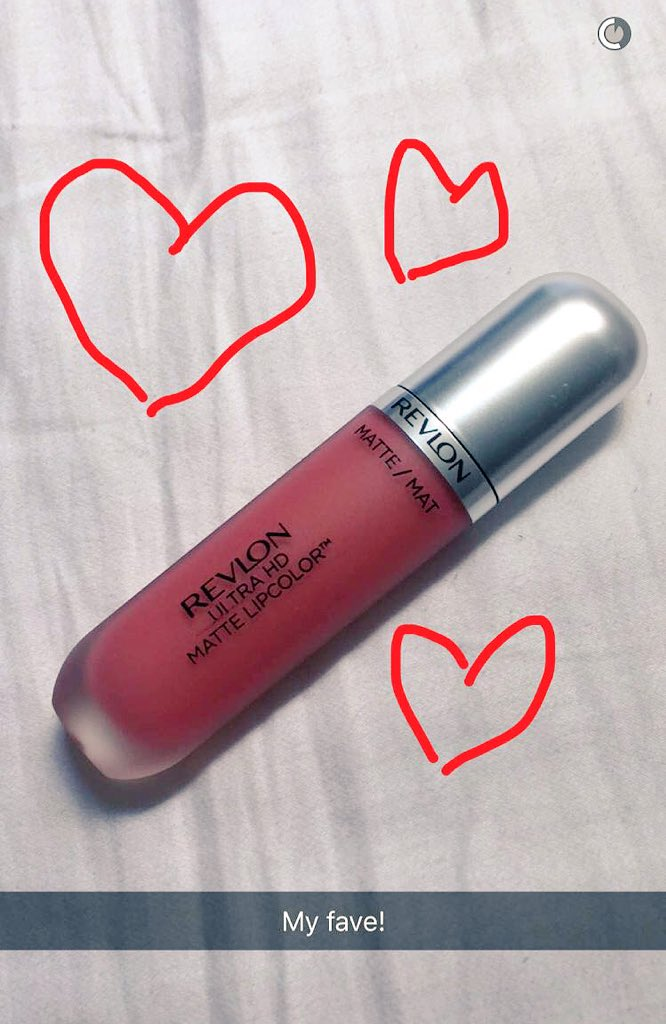 Look what we spotted on @TanyaBurr's #snapchat ❤️ Our new Ultra HD Matte Lipcolour
