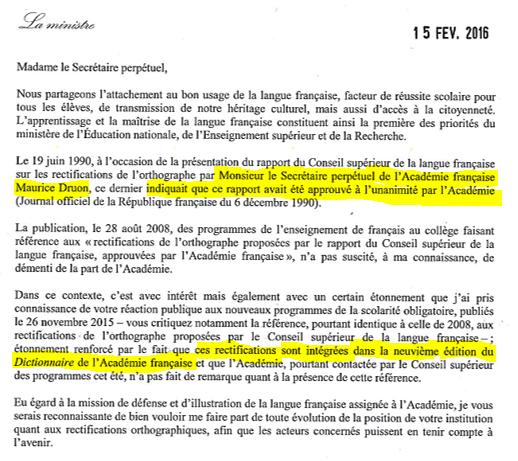 Rectifications de l'orthographe : cela devient croustillant quand @najatvb répond à Hélène Carrère d'Encausse. https://t.co/LdQ9Ro62TX