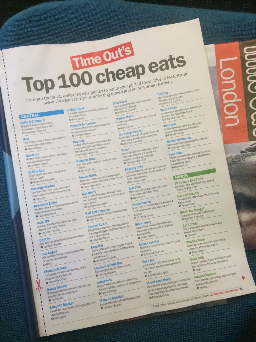 We have 99 GREAT friends in #London #Cheapeats https://t.co/0UpvlgqhVi