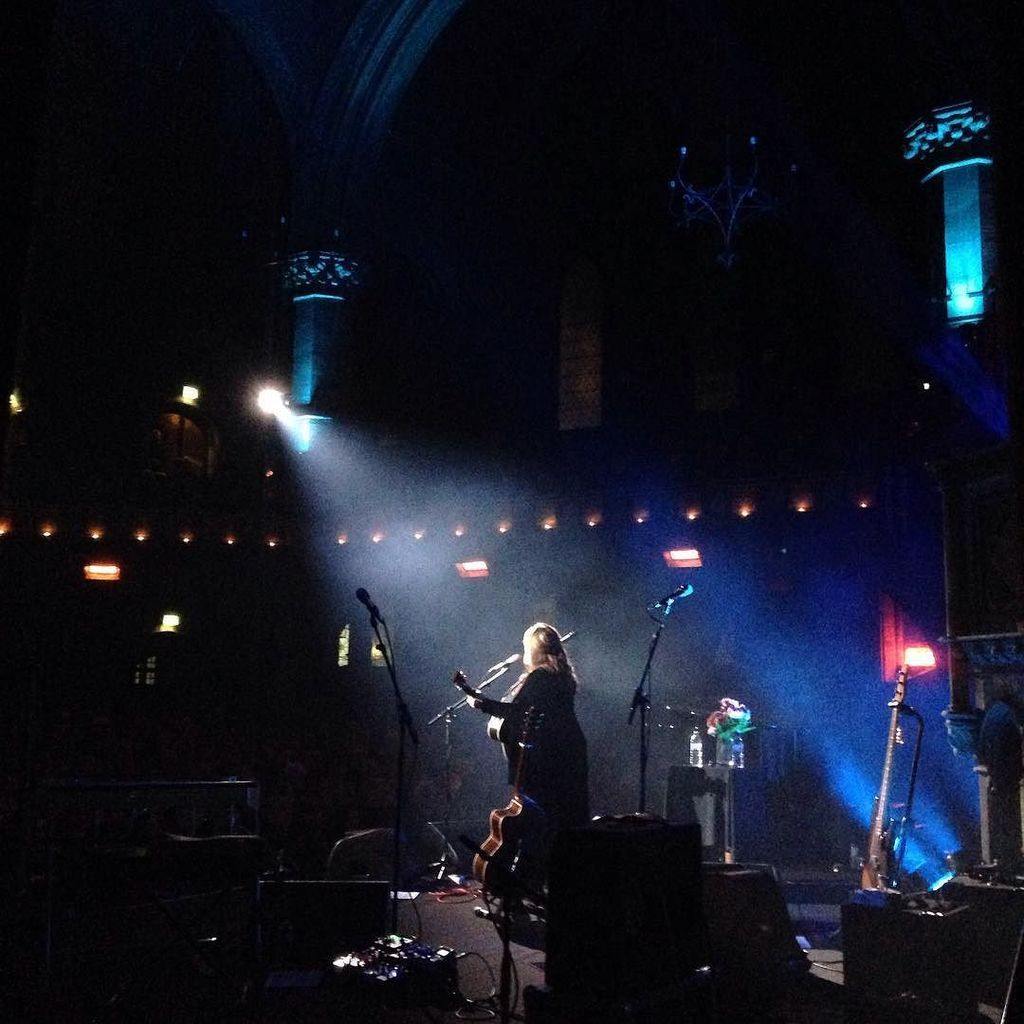 My wife, from backstage. She's a wonder. #unionchapel #london https://t.co/v7wkQ6ipy6