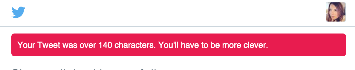 Now onto other news about passive aggressive UI content. This one from our friends @Twitter: https://t.co/rqv3OxHPWl