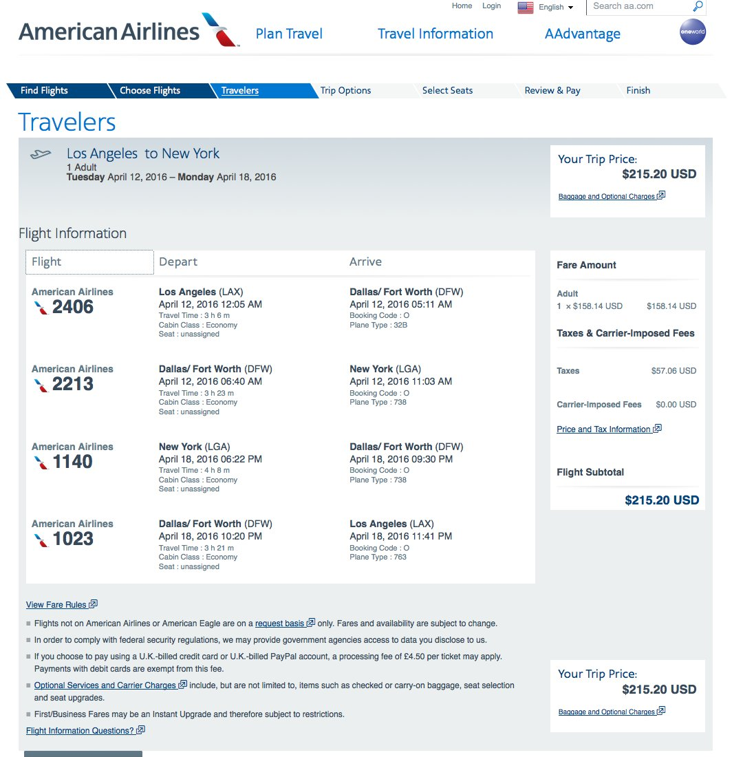 RT @airfarewatchdog: L.A. LAX to NY LGA $216 round-trip on @AmericanAir for spring travel