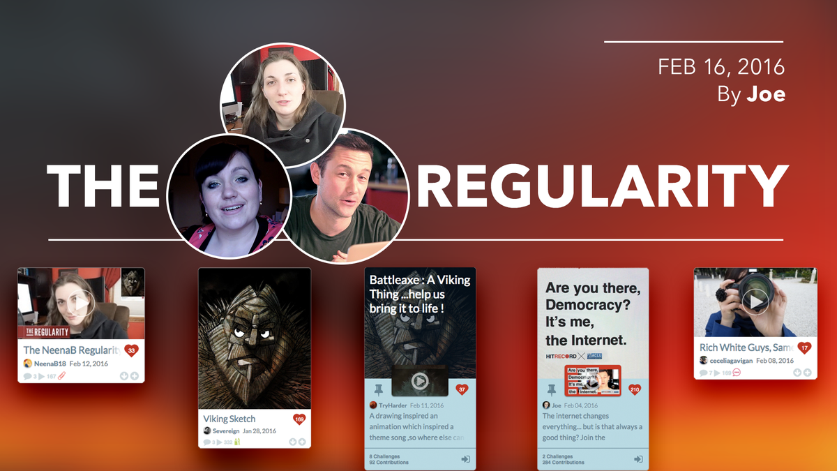 RT @hitRECord: Artists of all kinds can get involved w/ the projects highlighted in today's #Regularity -- https://t.co/jDV1JTMkT2 https://…