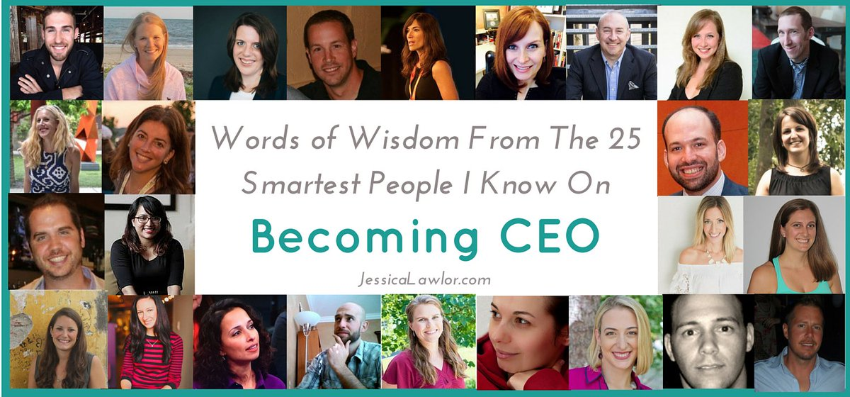 Words of wisdom from the 25 smartest people I know on becoming CEO: https://t.co/S611N5WS1w #GetGutsy https://t.co/igjvkB43Mc