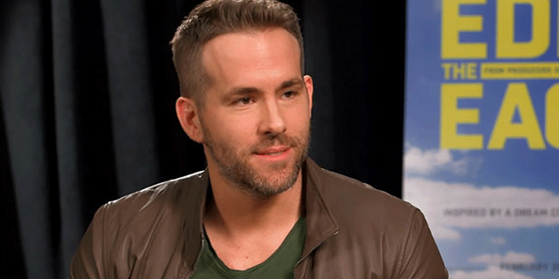 Ryan Reynolds crashes Hugh Jackman's press junket for @EddieEagleMovie 😂