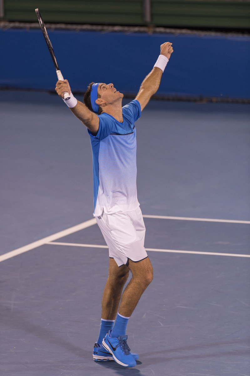 .@delpotrojuan celebrates his first win in over a year on the court at the #DelrayBeachOpen https://t.co/ivf3jxPtP6