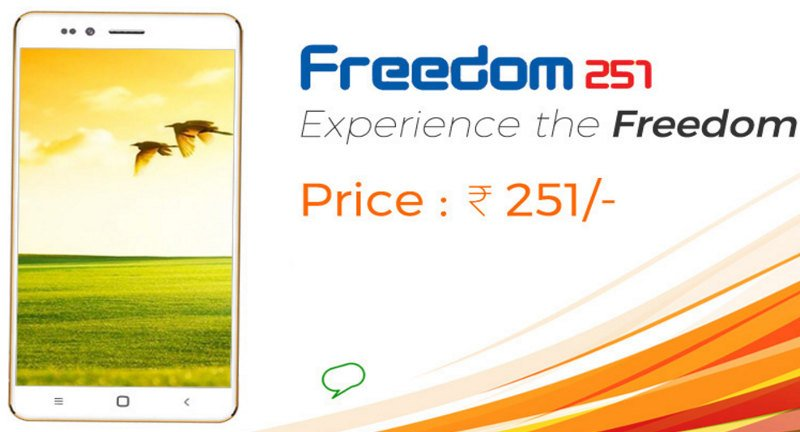 Ringing Bells Freedom 251 India's cheapest smartphone launched for Rs. 251 https://t.co/HAt2PiMtDD https://t.co/ty1JeVhVDl