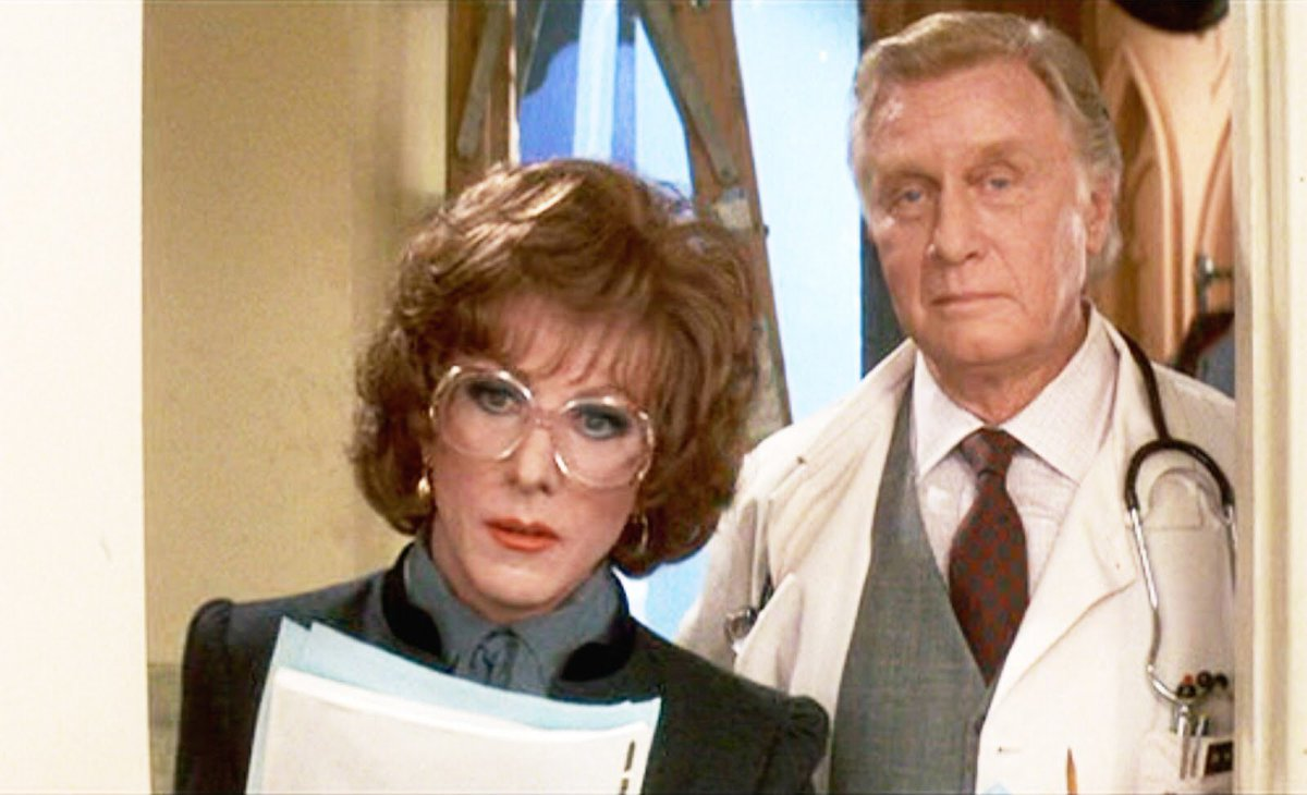 """RIP George Gaynes, who masterfully delivers the funniest line in 1 of the best movies, Tootsie.  """"Does Jeff know??"""" https://t.co/RTZV7QJBSO"""