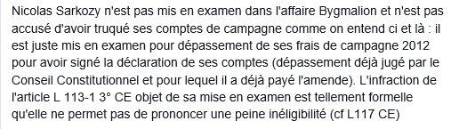 Les médias déforment : la mise en examen de #Sarkozy est juste pour une infraction formelle https://t.co/kShlIfK6lw https://t.co/Usx8uNuIk4