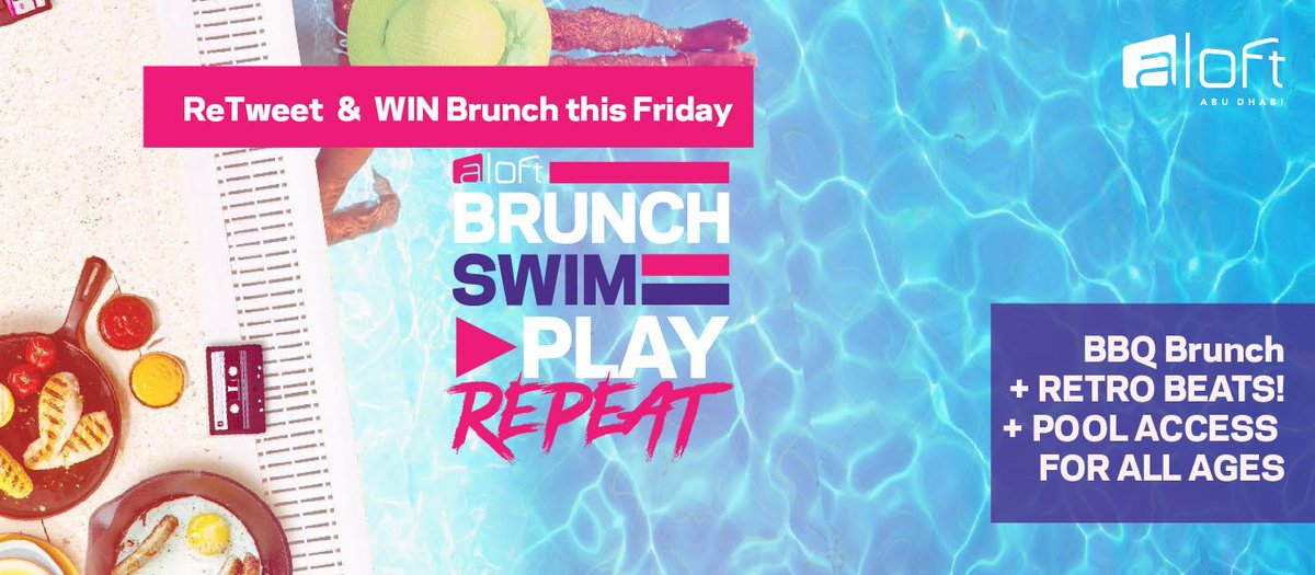 #Retweet for a chance to win one of 3 #Brunch & #Swim passes for 2 this #Friday!  #BrunchSwimPlayRepeat https://t.co/Z2t8ctck9c