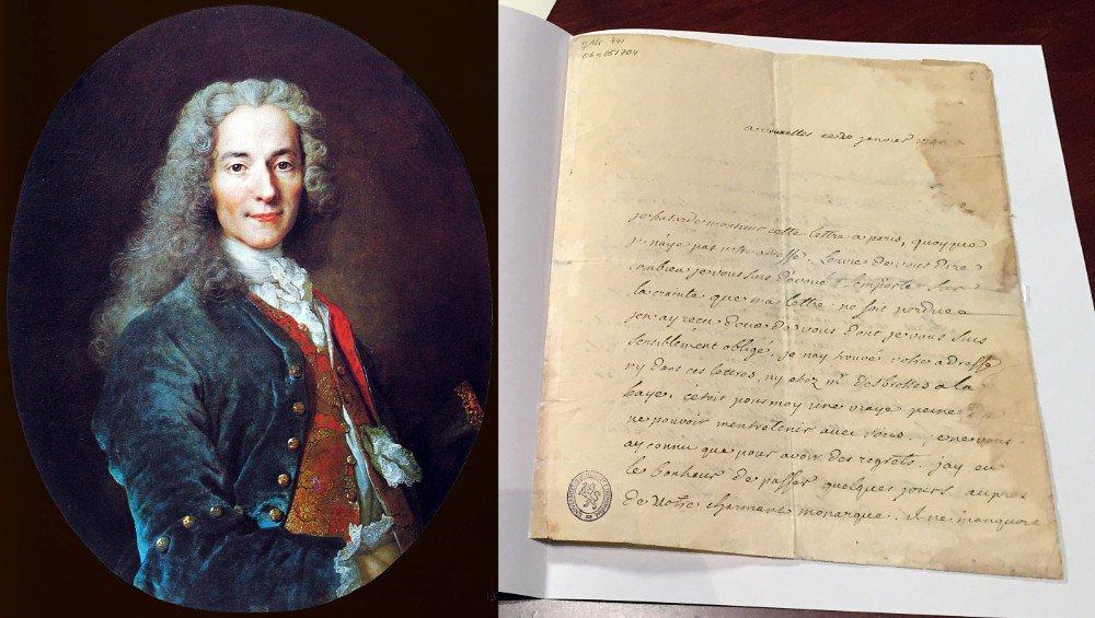Håndskrevet brev av Voltaire oppdaget på @NTNU_UB. Nå vekker brevet internasjonal oppsikt https://t.co/eZyikGduEB https://t.co/V80Vfvlcic