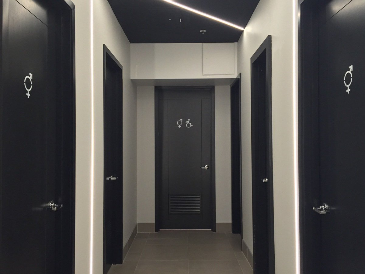What's behind door number one? Each bathroom is different at @RenMontreal #hotel. See for yourself! #design https://t.co/wyCaoSsSOQ