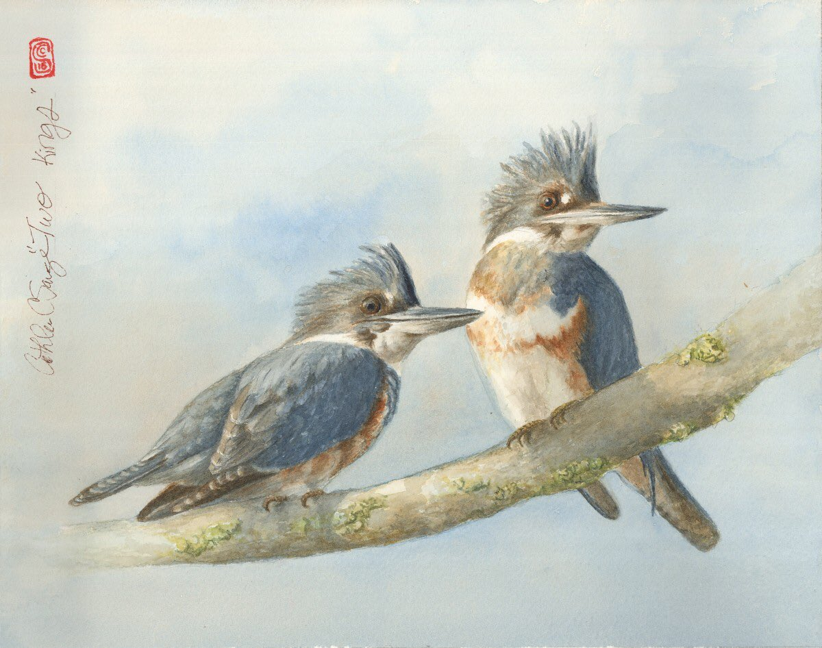 """My painting, Two Kings, was juried into the exhibit """"Flight/Vuelo"""" at the Tubac Center of the Arts in Tubac, AZ #art https://t.co/vogPHFDry0"""