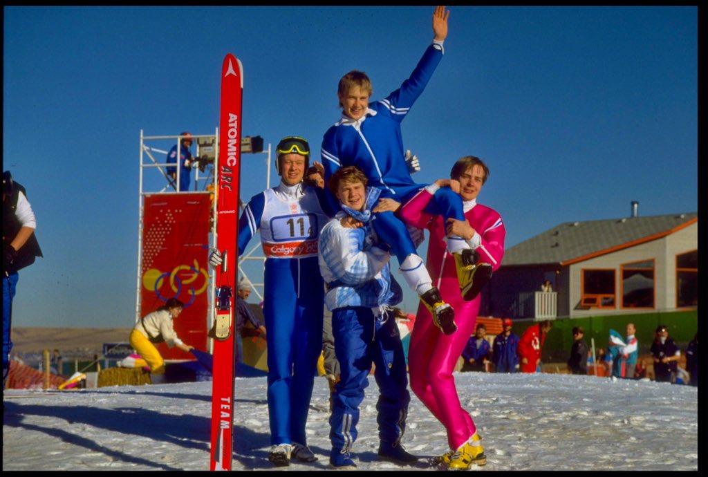 Otd: finnish ski jumper matti nykanen first to win 3 golds at 1 ...