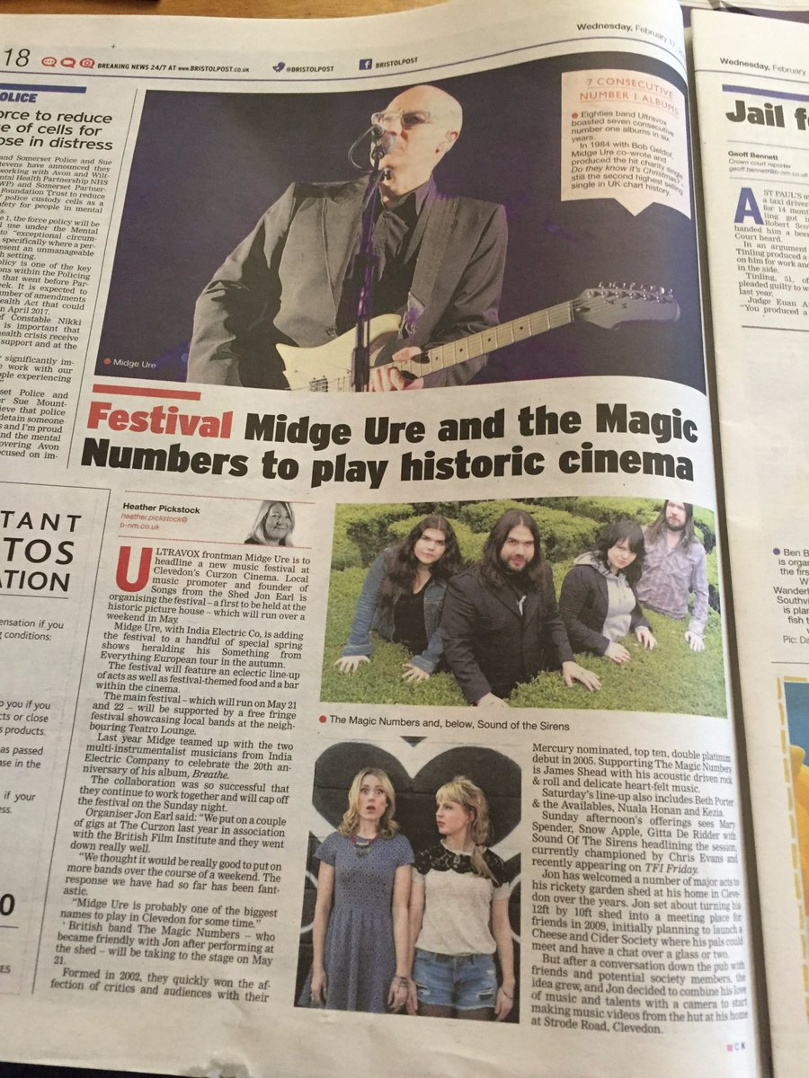Heard the news ? @midgeure1 @themagicnumbers @soundothesirens @JamesSheadMusic @_keziaofficial @BethanyPorter1 https://t.co/vZ1t0Fo4HH