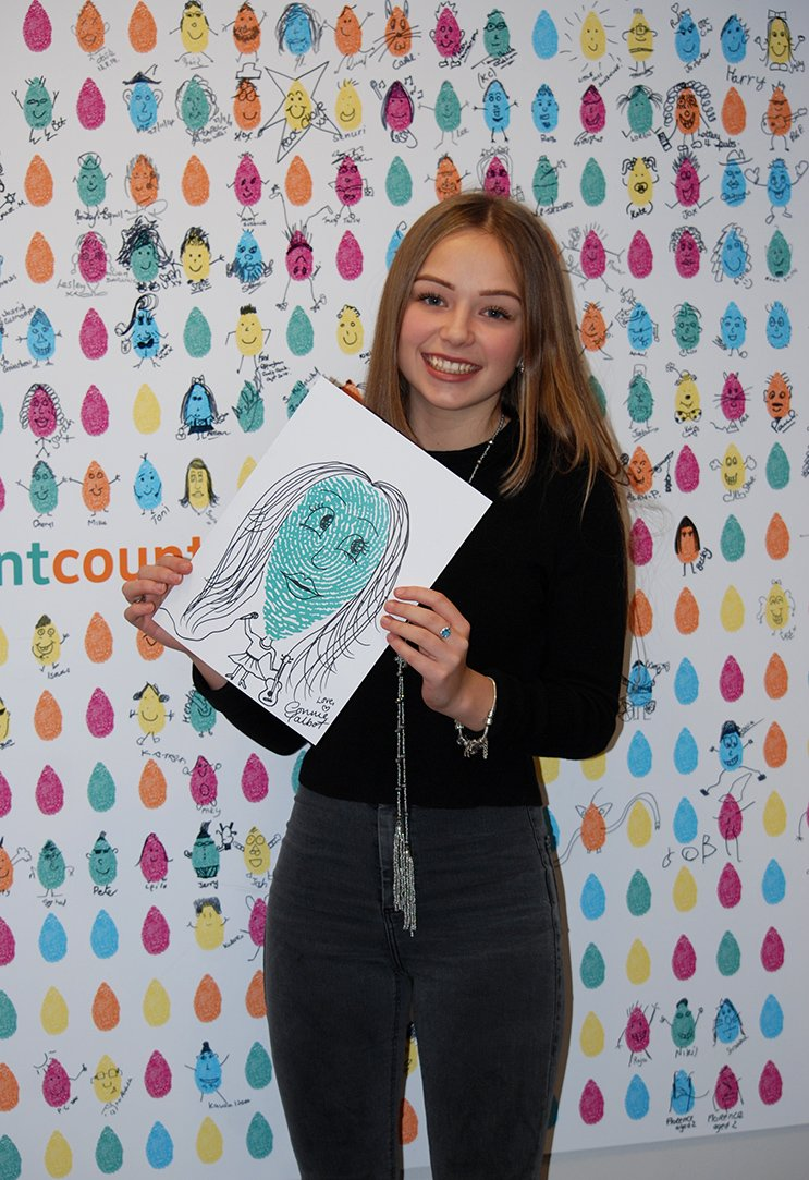 The @SSChospices Friendlies are 2 today! Here's @ConnieTalbot607 & her design she did when she sang for us at Xmas https://t.co/AGLuJxQHdq