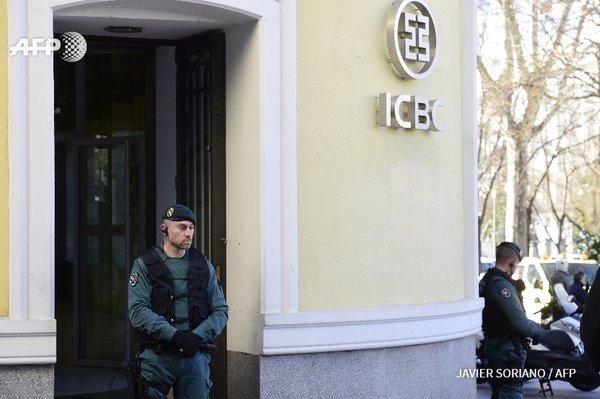 法新社,工行西班牙马德里支行被查封,因为警方掌握洗钱证据。 # 转自微博 https://t.co/u9tseY2A1O