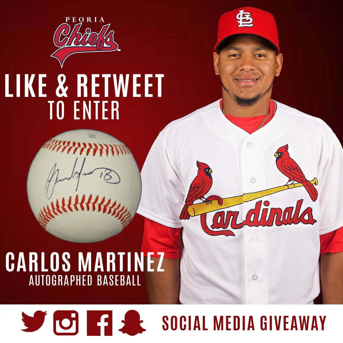 Follow us as the season approaches. Like & retweet for a chance to win a Carlos Martinez autographed baseball. https://t.co/ZY5YrIQval