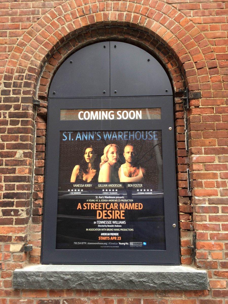 Coming this April! #Streetcar #YVStreetcar @GillianA #BenFoster #VanessaKirby #CoreyJohnson #Theater #Brooklyn https://t.co/swhkHXyjoY