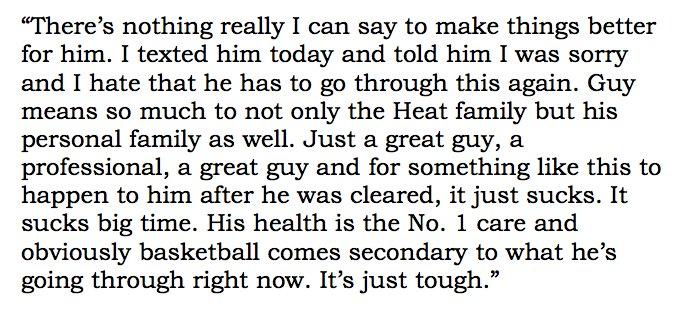 #Cavs LeBron James on the latest Chris Bosh health scare https://t.co/WkZFNnGliZ