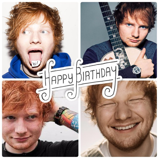 Happy Birthday to the amazingly talented and just super cool, Ed Sheeran!!