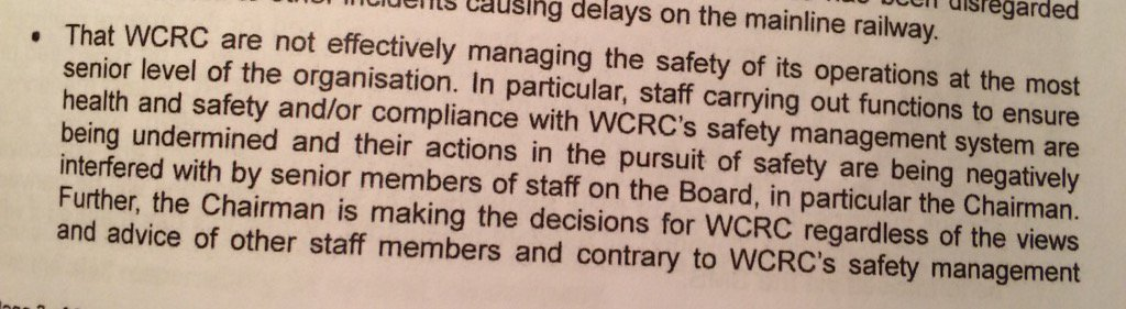Just read ORR 9-page prohibition letter to WCRC. This is the most shocking, damning para IMHO. Utterly appalling. https://t.co/EECzy6WYcm