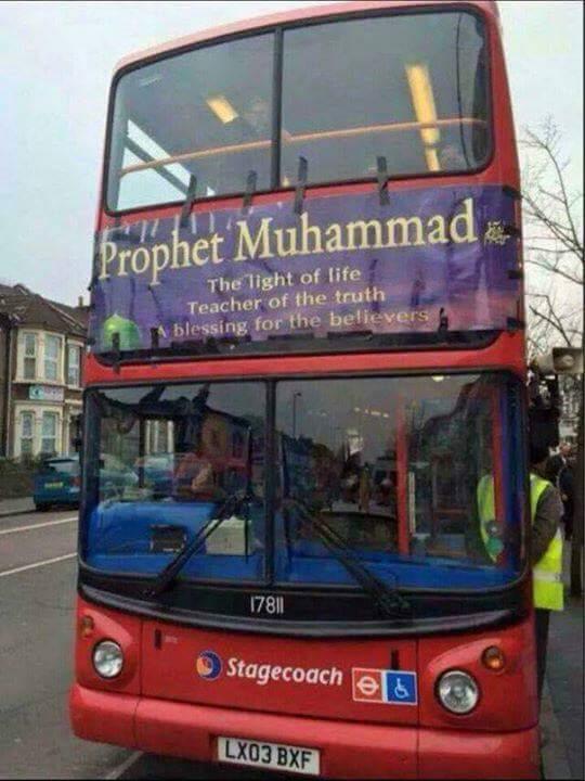 Menakjubkan Bis Di Inggris Memasang Berbagai Poster Tulisan Tentang Nabi Muhammad SAW - AnekaNews.net