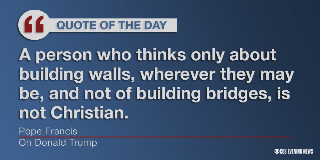 Image result for pope francis trump quote