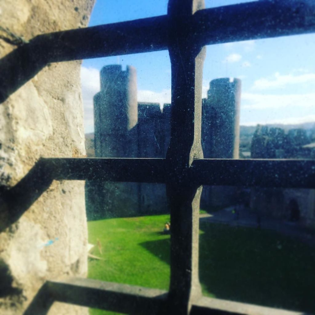 Through the window at Caerphilly Castle #cadw @cadwwales #Wales https://t.co/QXKtmG0VJg