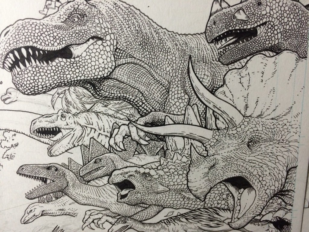 What sort of moron draws every dinosaur scale on a dinosaur stampede? This one right here! https://t.co/d4n6mWJuGp