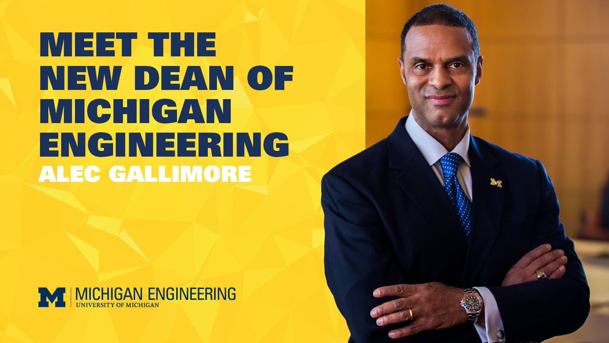 BREAKING NEWS: @MichiganAero Prof. Alec Gallimore appointed the next Dean of Engineering. https://t.co/6l79z1As1A https://t.co/SYgNSdR9LH