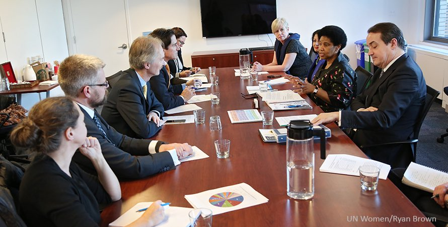 Together to promote gender equality & empowerment of women! Nordics are top supporters, gathered at UN Women HQ