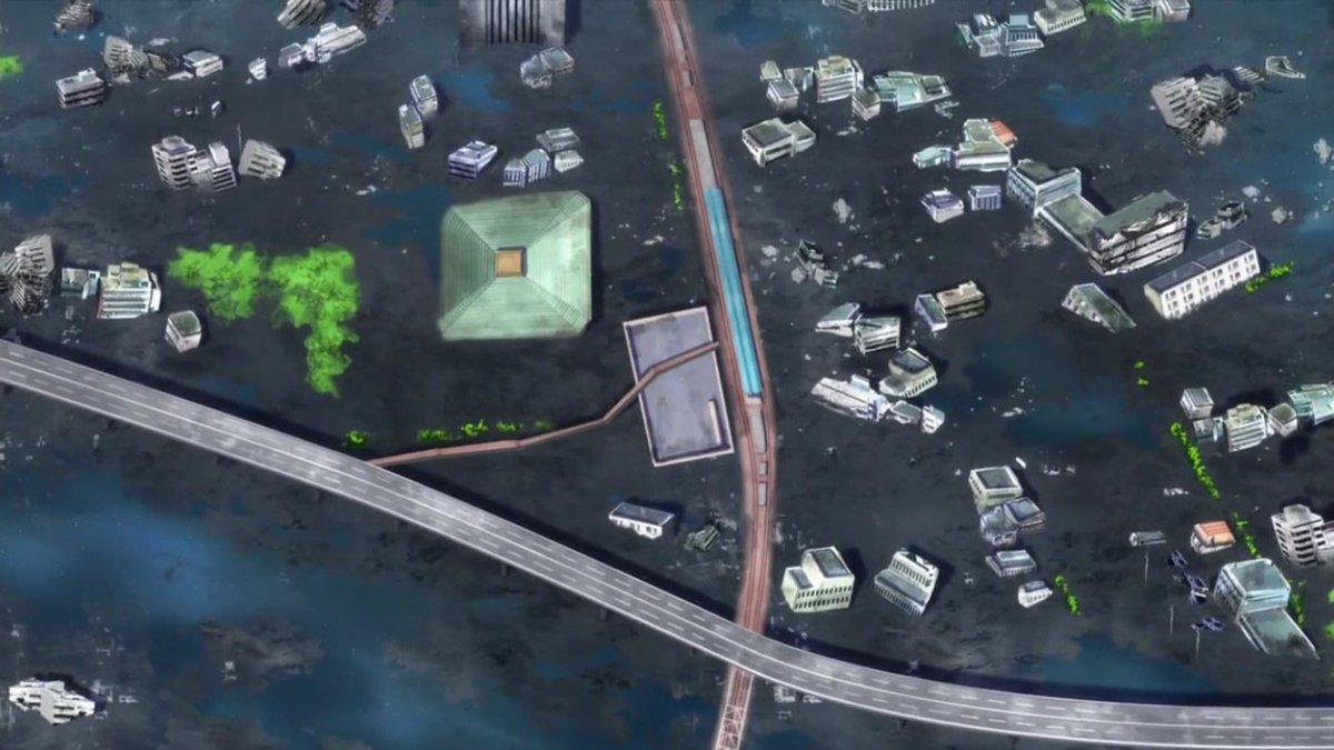 アクティヴレイド -機動強襲室第八係-7話その1E233系(E235系?)前回に引き続き中央・総武緩行線。両国が廃墟とい