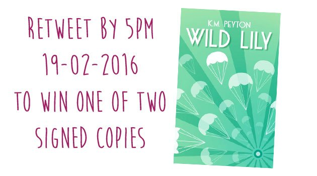 It's #FreebieFriday! #Win one of two signed copies of #KMPeyton's Wild Lily. RT by 5pm! @DFB_storyhouse https://t.co/tdVcYe3Xob