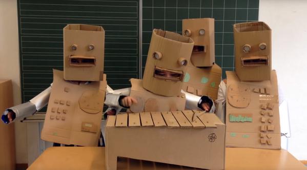 "Watch a German elementary class perform @kraftwerk's ""Die Roboter""—complete with costumes: https://t.co/GUwXb1JSnF https://t.co/gp8iWtQszC"