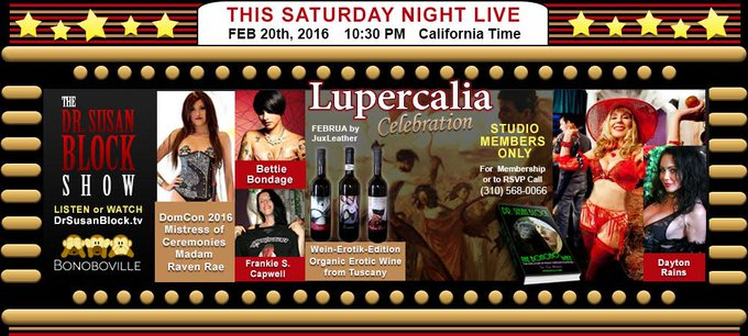 #Lupercalia this Saturday: https://t.co/4098dAAOlj w/ @OfficialDomCon's @SexiRavenRae &more! RSVP: Call