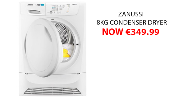 Fit more into your dryer and your day with the Zanussi 8KG Condenser Dryer, now only €349.99 https://t.co/Pe93qIwfr6 https://t.co/BXL6mmgDpp