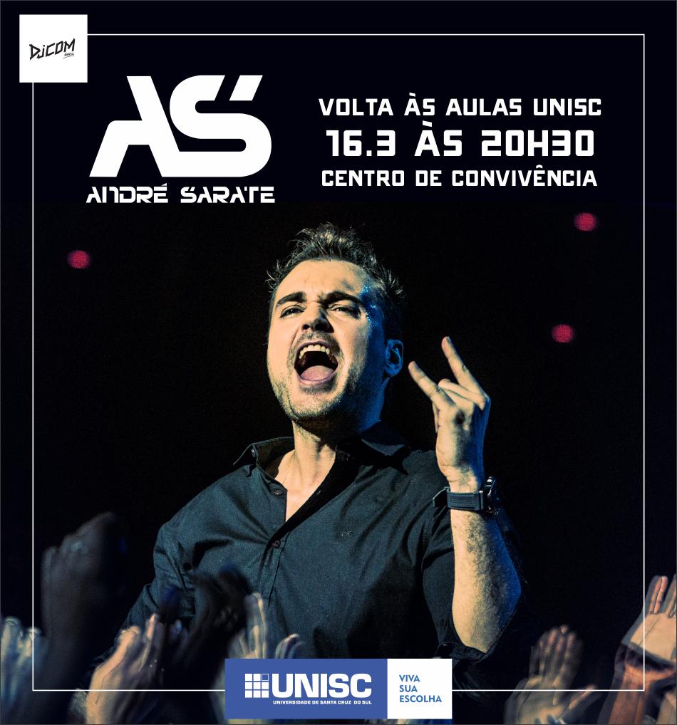 O Show de Volta às Aulas vai ser por conta do Andre Sarate,uma das maiores revelações da House Music Brasileira! https://t.co/9fnhGOiU1A