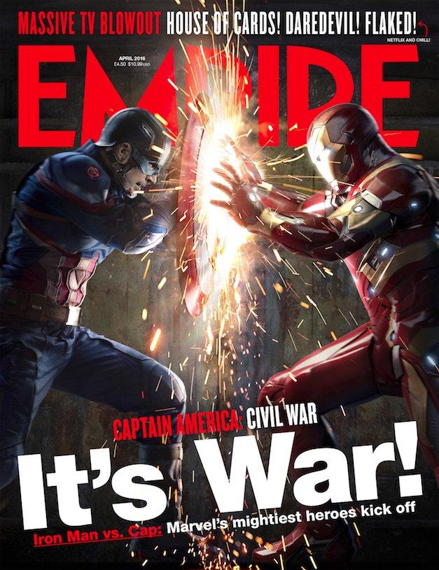 Time to pick a side... Empire's exclusive new Captain America: Civil War cover revealed: https://t.co/Ys0ENWZWq5 https://t.co/9EKzAVjGLB